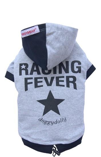 "DoggyDolly® Hunde-Sweatshirt ""Racing Fever"" (grau)"