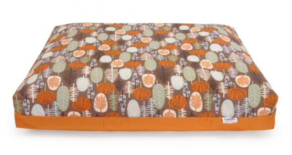 """Camon® rechteckige Hundematratze """"Fantasy Forest"""" - orange"""