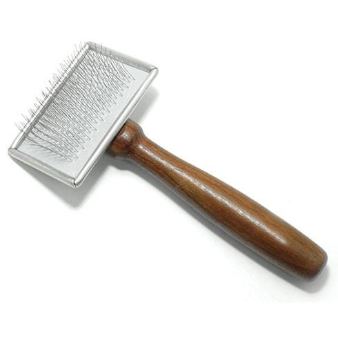 Vivog® Metall-Zupfbürste mit Holzgriff