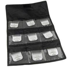 Andis® Falttasche für 9 Scherköpfe (shwarz)