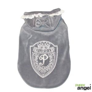 """Puppy Angel® Fleece-Sweatshirtjacke """"Bow Hood"""" für Hunde (grau)"""