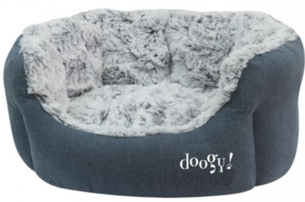 "Doogy!® Hundebett ""Whooly"" - blau"