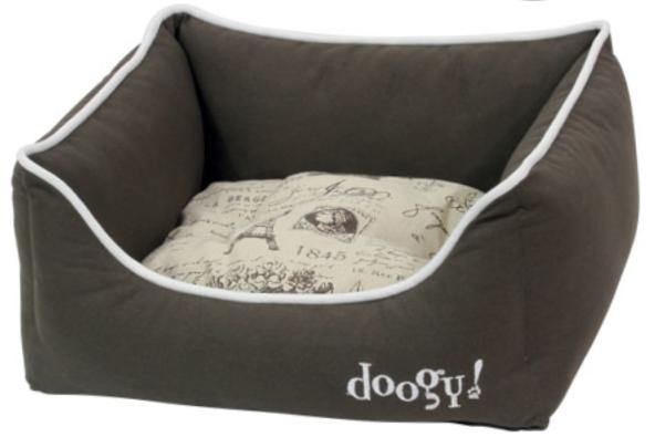 """Doogy!® Hundesofa """"Frenchie"""" - braun-beige"""