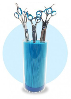 Phoenix Universal® Scherenständer mit Borsteneinsatz (türkisblau)