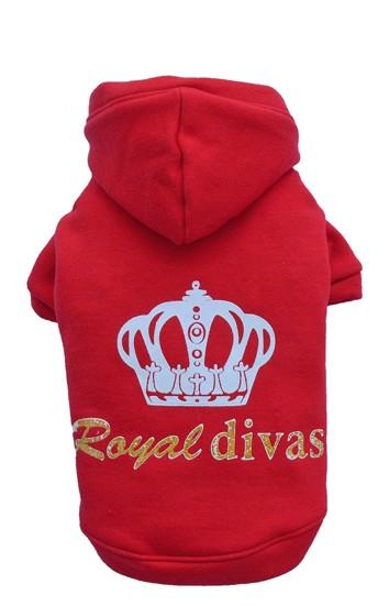 "DoggyDolly® Hunde-Sweatshirt ""Royal Divas"" (rot)"
