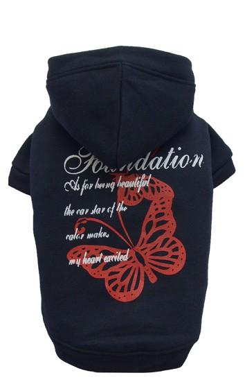 DoggyDolly® Hunde-Sweatshirt mit Schmetterlingsprint (schwarz)