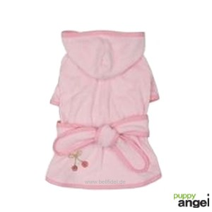 """Puppy Angel® """"Cherry Berry"""" Frottee Hunde-Bademantel (rosa)"""
