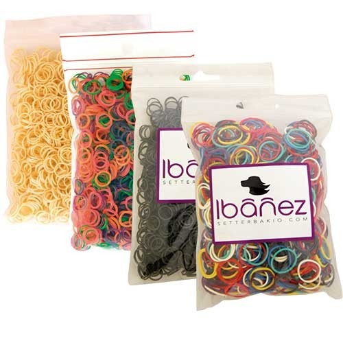 Ibanez® Latex Haarbänder Haargummis (1000 Stk.)
