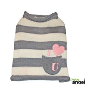 "Puppy Angel® Hundepullover ""Love in my Pocket"" (grau)"