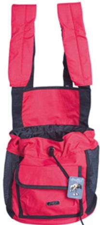 Doogy!® Weiche Bauchtragetasche - rot/schwarz