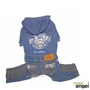 "Puppy Angel® Jeans-Hundeoverall ""Glint Mischief"" (blau)"