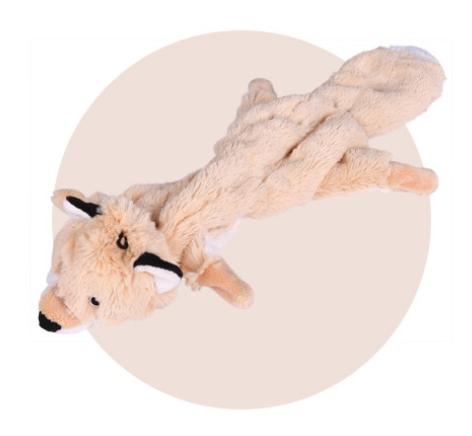 "Doogy!® Flaches Plüschtier mit Knittergeräusch ""Fuchs"" - 45 cm"