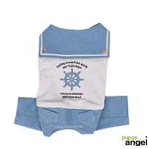 "Puppy Angel® ""Wild Sailing"" Hundeoverall (blau)"