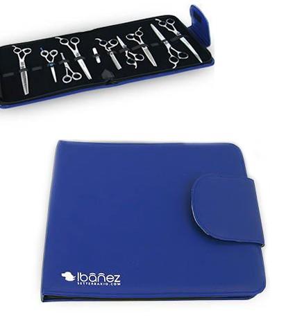 Ibanez® Scherenmappe für 12 Werkzeuge (blau)