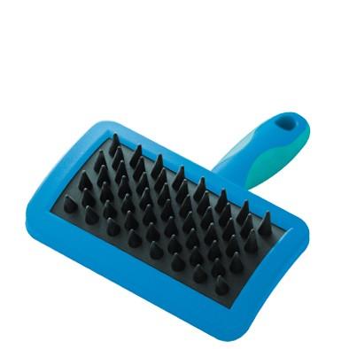 Vivog® Welpenbürste / Gummibürste mit schwankbarem Kopf und konusförmigen Noppen