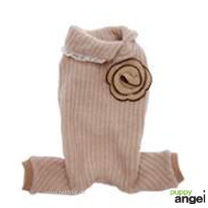 """Puppy Angel® Hundestrickoverall """"Rose Marie"""" (beige)"""