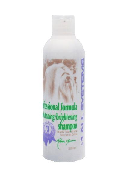 "#1 All Systems Hundeshampoo für weißes Fell ""Professional Formula Whitening"""