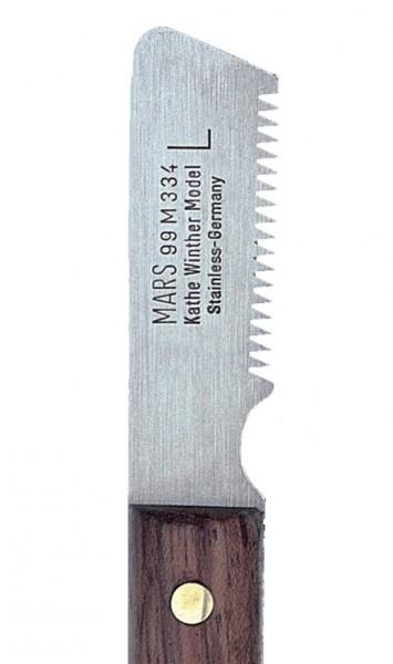 Mars Alcoso® Trimmmesser mit grober, scharfer Zahnung - Linkshändermodell