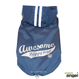 "Puppy Angel® Hunderegenweste / Hunderegenjacke ""Awesome"" (marineblau)"