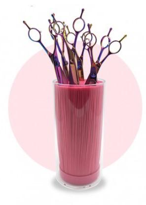 Phoenix Universal® Scherenständer mit Borsteneinsatz (pink)