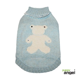 "Puppy Angel® Hundepullover ""Jewelled Bear"" (blau)"