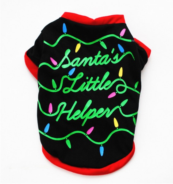"Weihnachtliches Hunde-T-Shirt ""Santa´s Little Helper"""