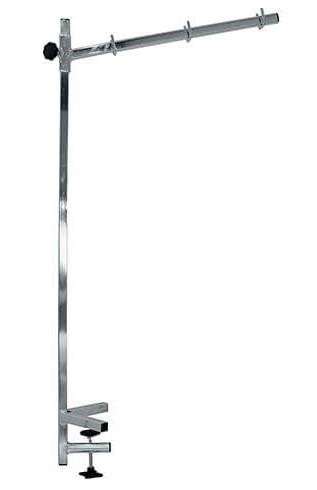 Vivog® Höhenverstellbare Metallhalterung mit Schraub-Befestigung für kleine Trimmtische (85 x 50 cm)