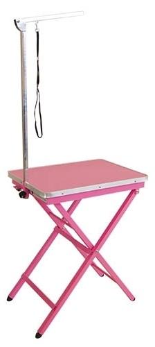 Ibanez® Klapptisch für kleine Hunde (Tischplatte 60 x 44 cm, pink)