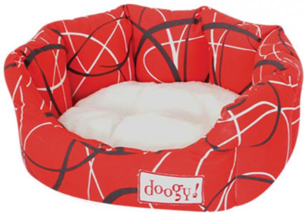"Doogy!® Rundes Hundebett ""Holly"" - rot"
