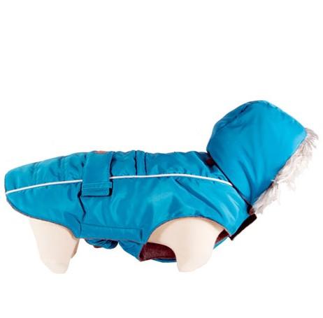 "Doogy!® Winter-Hundejacke mit Kapuze ""Softy"" (türkisblau)"