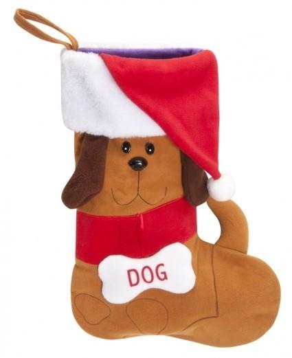 Camon® Weihnachtsstrumpf mit Hundemotiv