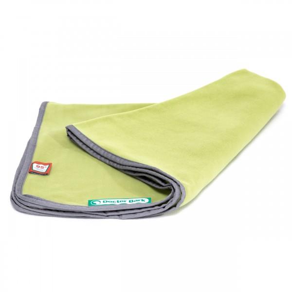 Doctor Bark® Fleece-Kuscheldecke für Hunde (grasgrün)