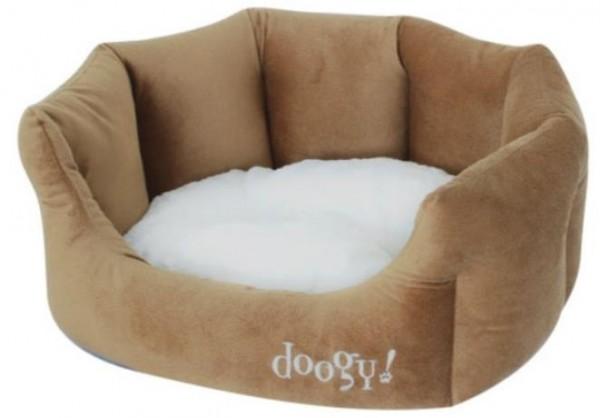 "Doogy!® Hundebett ""Teddy"" - braun/beige"
